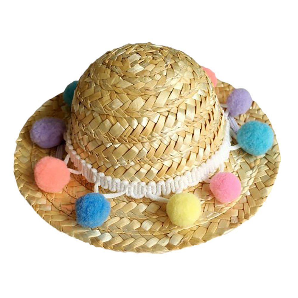 Loweryeah Pet Hat Valerian Weaved to Conceal Sunshine Cat Decorations