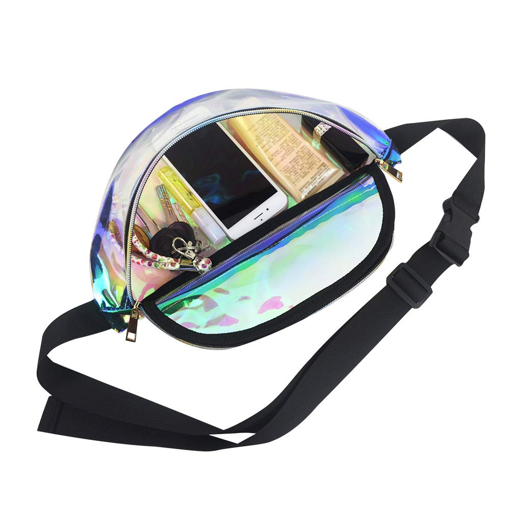 Party Magicbags Fanny Pack for Women-Holographic Waist Pack for Festival Travel
