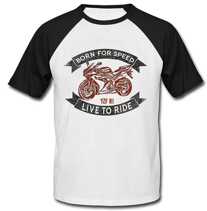 Teesandengines YAMAHA YZF R1 CAMISETA DE MANGAS NEGRA CORTAS T-shirt: Amazon.es: Ropa y accesorios
