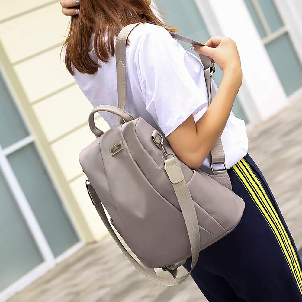 Clearance Sale Women Travel Backpack Oxford Cloth School Bag Carry Everywhere Tote Bags [Valentine's Day ] (Khaki) by Aurorax Bag (Image #3)