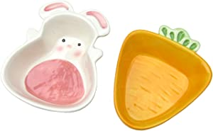 Alfie Pet - Owen Ceramic 2-Piece Set Food and Water Bowl for Small Animals Like Dwarf Hamster and Mouse