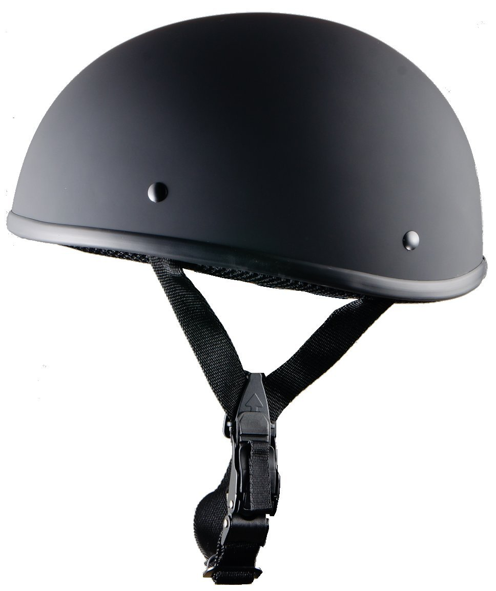 Bikerhelmets.com - World's SmallestMotorcycle Helmet -DOT ApprovedUltra Low Profile Beanie - Flat Black No Peak - X-Large by Bikerhelmets.com (Image #2)