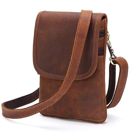 Amazon.com  Bruce Wang Men s Genuine Leather Small Hook Fanny Waist ... 76ad7e04bdf63