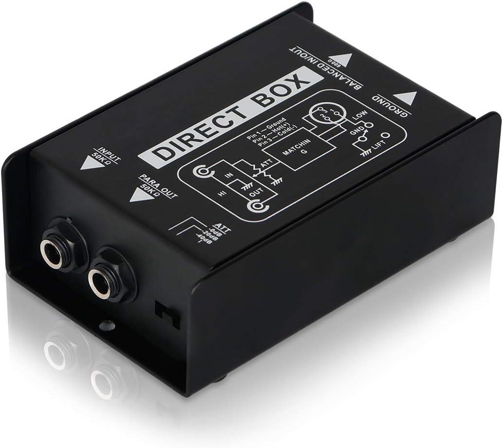 Depusheng - Caja de audio de inyección directa pasiva para bajo ...