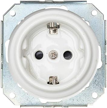 Enchufe de Pared Porcelana 240V,16A Superficie,2 unidades