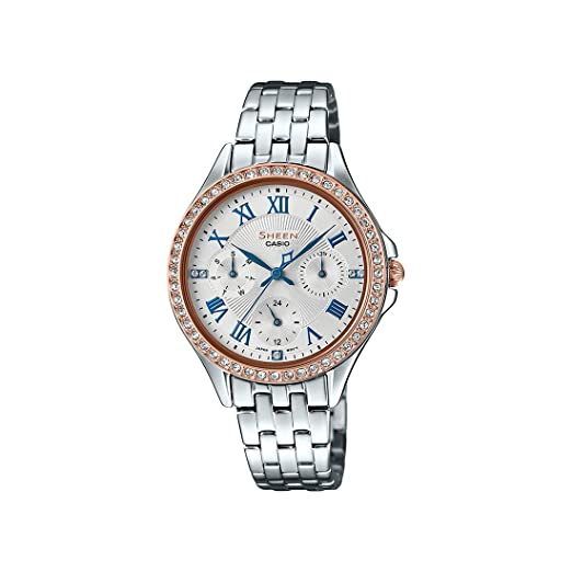 da5a7ee93fe Buy Casio Sheen Analog Silver Dial Women s Watch-SHE-3062SG-7AUDF (SX221)  Online at Low Prices in India - Amazon.in