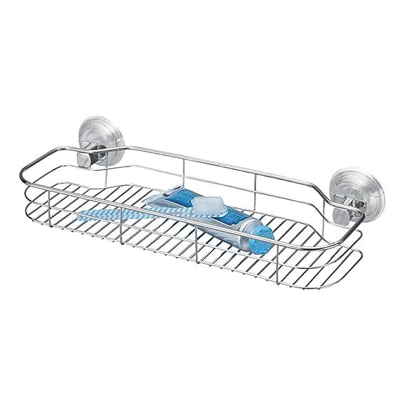 mDesign estantería para ducha - Repisa de baño fijada con ventosas ... 2a99d3efab78