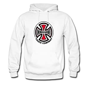 Independent Truck Co Men's Custom Print Classic Pullover Hoodies Sweatshirts XX-Large White