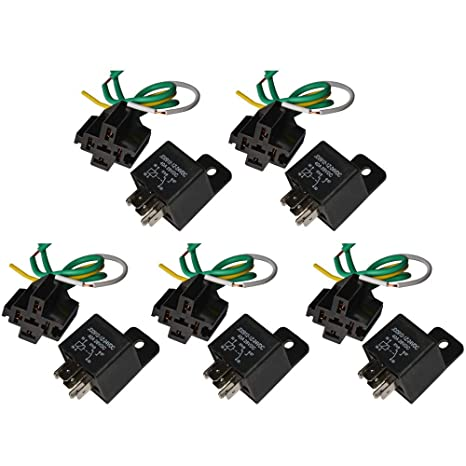 Outstanding Amazon Com Ehdis Car Truck Relay Socket Harness Kit 5 Pin 5 Pre Wiring Digital Resources Xeirawoestevosnl