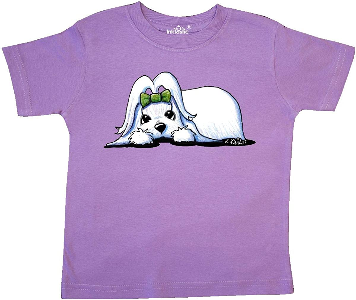 KiniArt inktastic Maltese Heart Melter Toddler T-Shirt