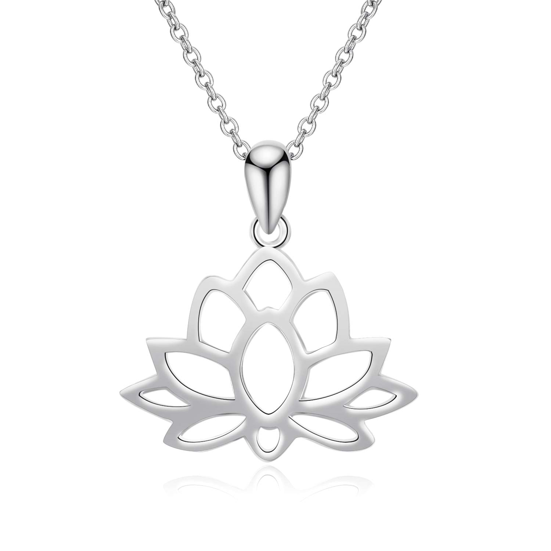 Details about  /Ladies Womens 925 Sterling Silver Hanging Lotus Flower Pendant Handmade UK