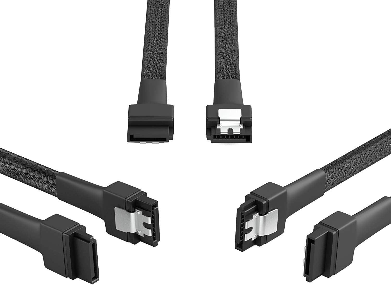 KabelDirekt 3X 30cm c/âble de donn/ées SATA 3 6 Gbit//s 7 Broches