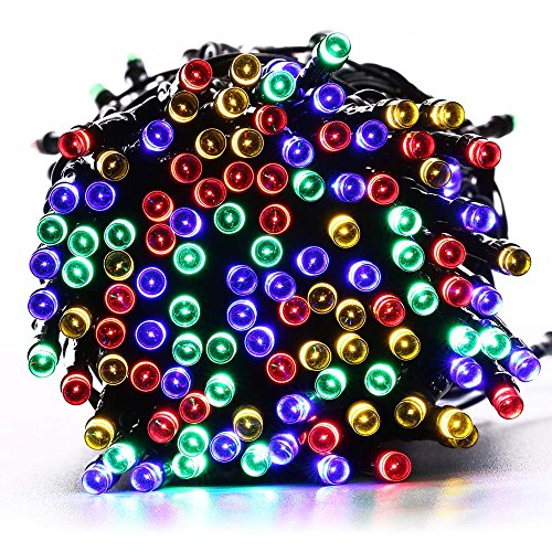Amazon Lightning Deal 89% claimed: [72ft 200 LED] Solar Christmas Lights, 8 Mode (Steady, Flash),Waterproof Outdoor String Lights for Garden, Yard, Patio, Christmas, Tree, Party, Holiday, Home (Multi Color)