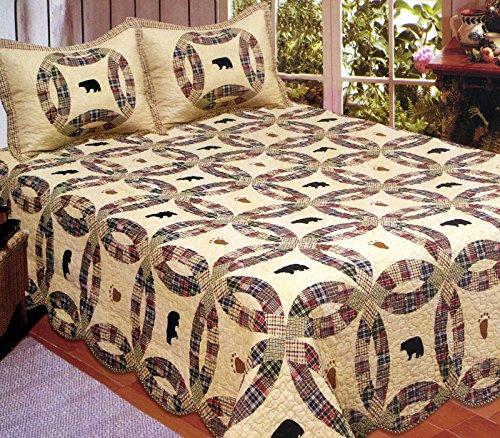 American Hometex Black Bear King Quilt Set
