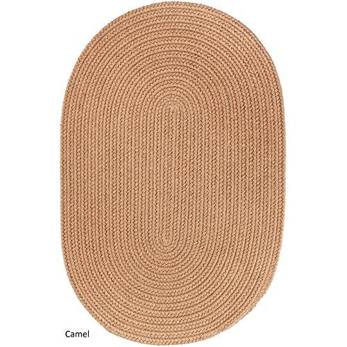Rhody Rug Madeira Indoor/Outdoor Oval Braided Rug (4' x 6') Camel