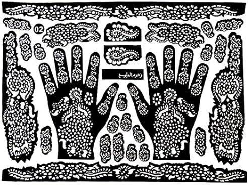 Plantillas de tatuaje manos/pies Henna tatuaje plantillas para ...