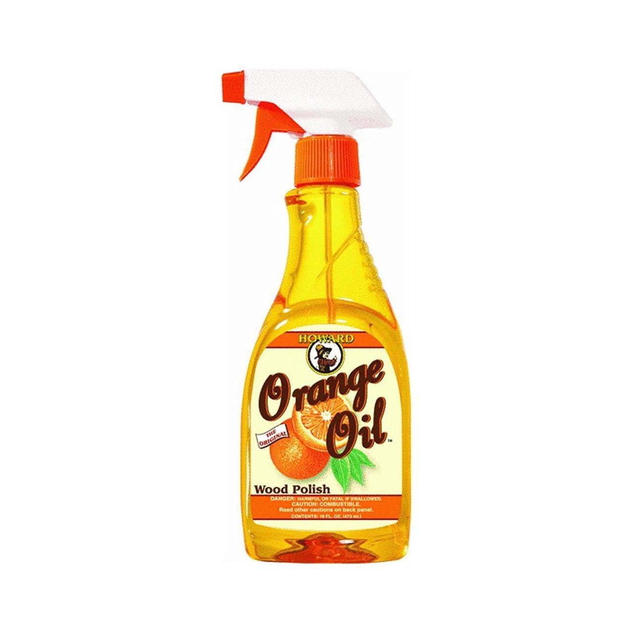 Howard Orange Oil 16 Ounce Two Bottles, Orange Wood Cleaner, Antique Wood Conditioner