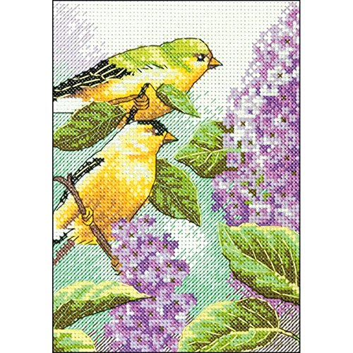 Dimensions Needlecrafts 70-65153 Goldfinch and Lilacs Counte
