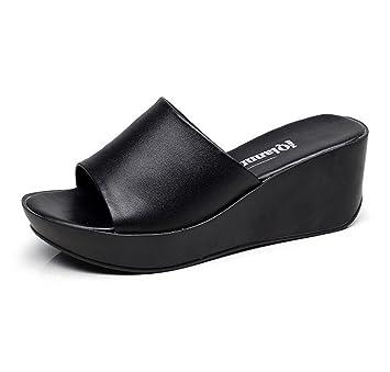 design intemporel 4f11f 3795f DANDANJIE Femmes Chaussures PU Confort d'été Pantoufles et ...