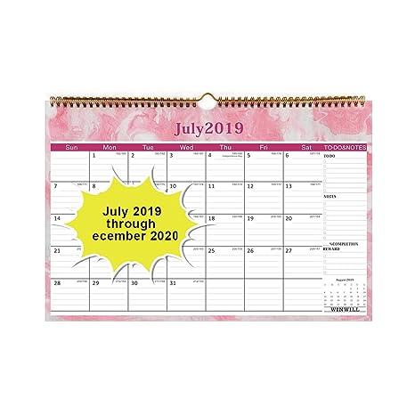 Amazon.com: Calendario 2019 – Calendario de pared 2019-2020 ...