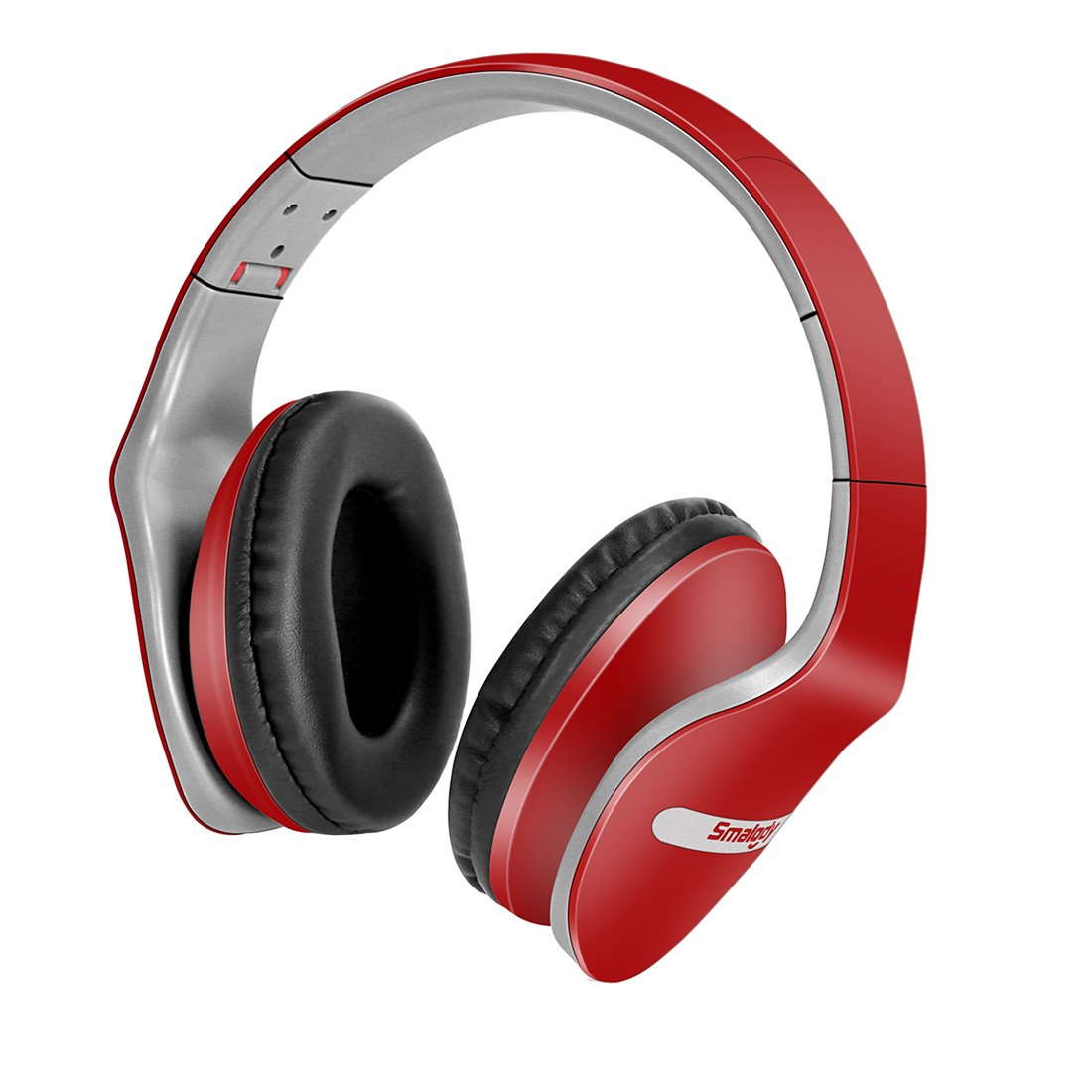 Smalody Gaming Headset Deep Bass Computer Game Headphones Noise Cancelling with Microphone Cool Design for computer PC Gamer (Red)