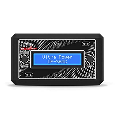 Anniston Kids Toys, Ultra Power UP-S6AC 6x4.35W 1S AC/DC LiPO/LiHV Battery Charger for RC Models Model Airplane & Accessories Perfect Fun Time Play Activity Gift for Boys Girls: Toys & Games
