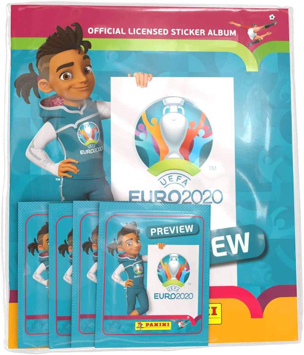 UEFA- Colección de Pegatinas Euro 2020, Starter Pack (Panini EP20STSP)