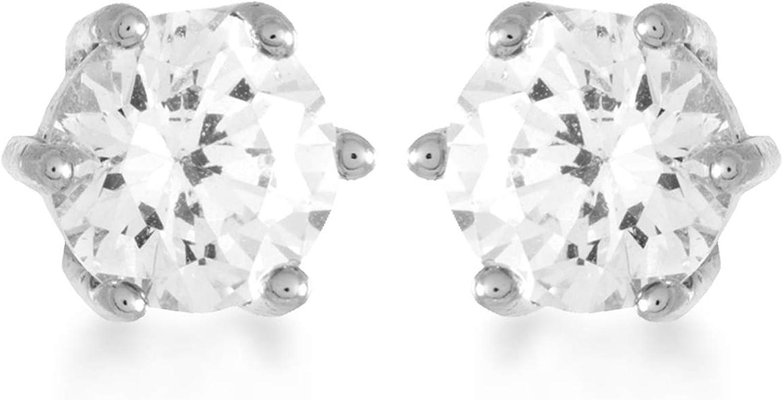 Pendientes Luxenter Qwara en plata y circonita brillante
