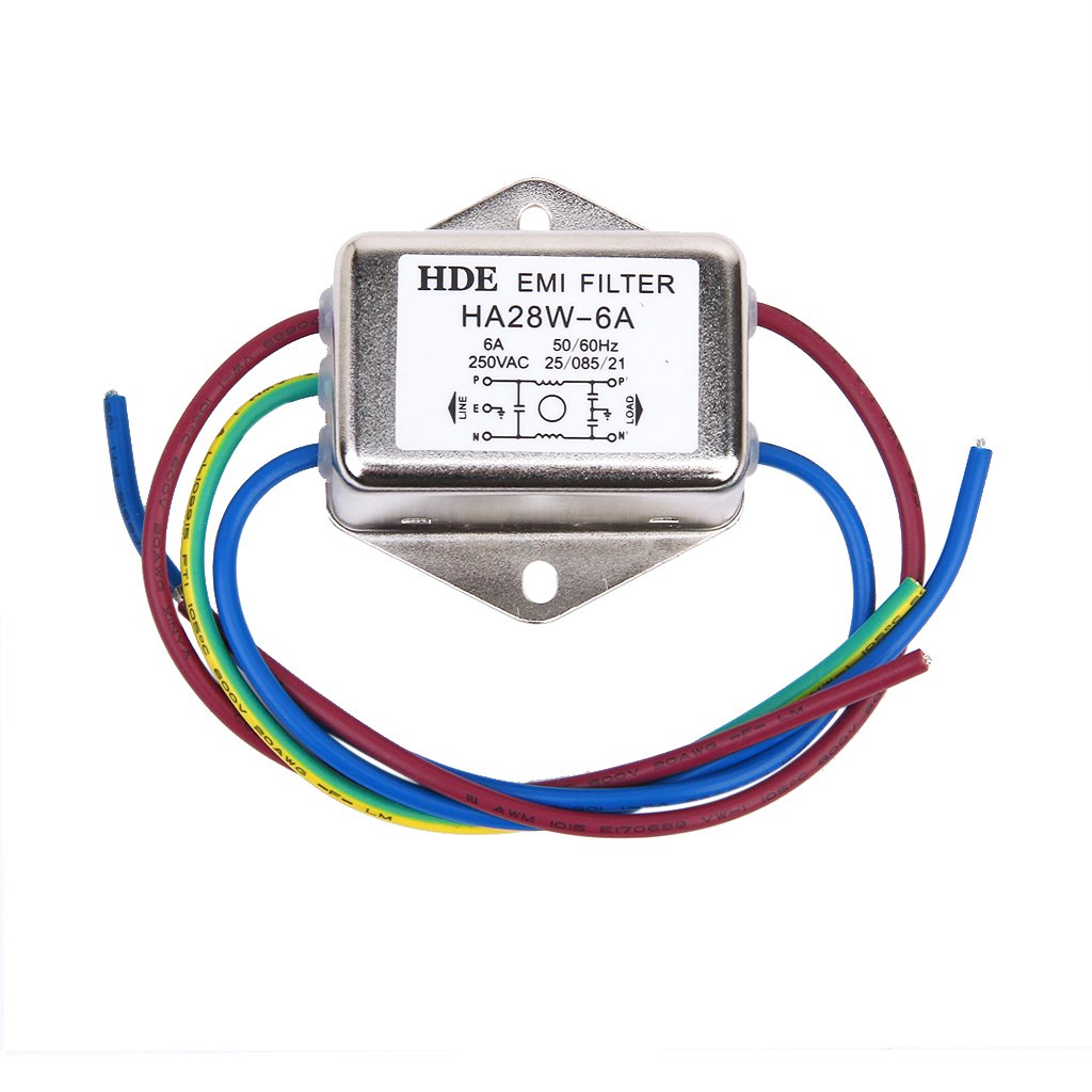 Netzfilter Power EMI Filter HA28W-6A 50/60Hz 250V AC Unbenkannt