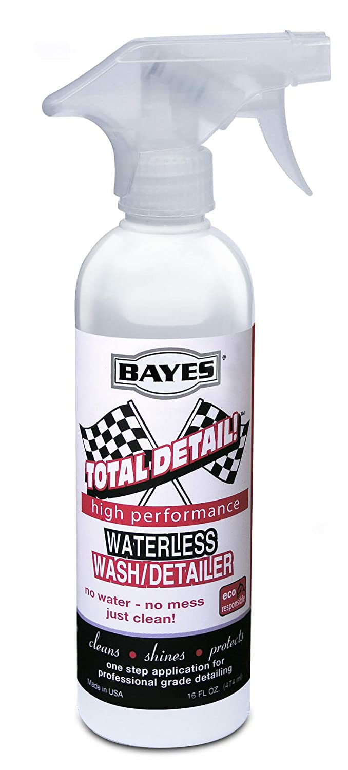 Bayes High- Performance Total Detail Waterless Car Wash and Detailer - Cleans, Shines and Protects in One Step - Pro Style Detailing Made Easy - 16 oz (1-Pack) Lab Clean 192-2 pack