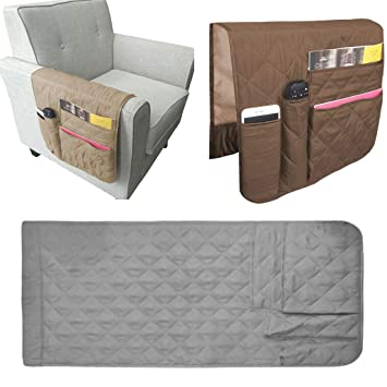 Magazines TV Remote Waterproof Sofa Couch Chair Armrest Durable Soft Caddy Organizer Holder for Phone Book