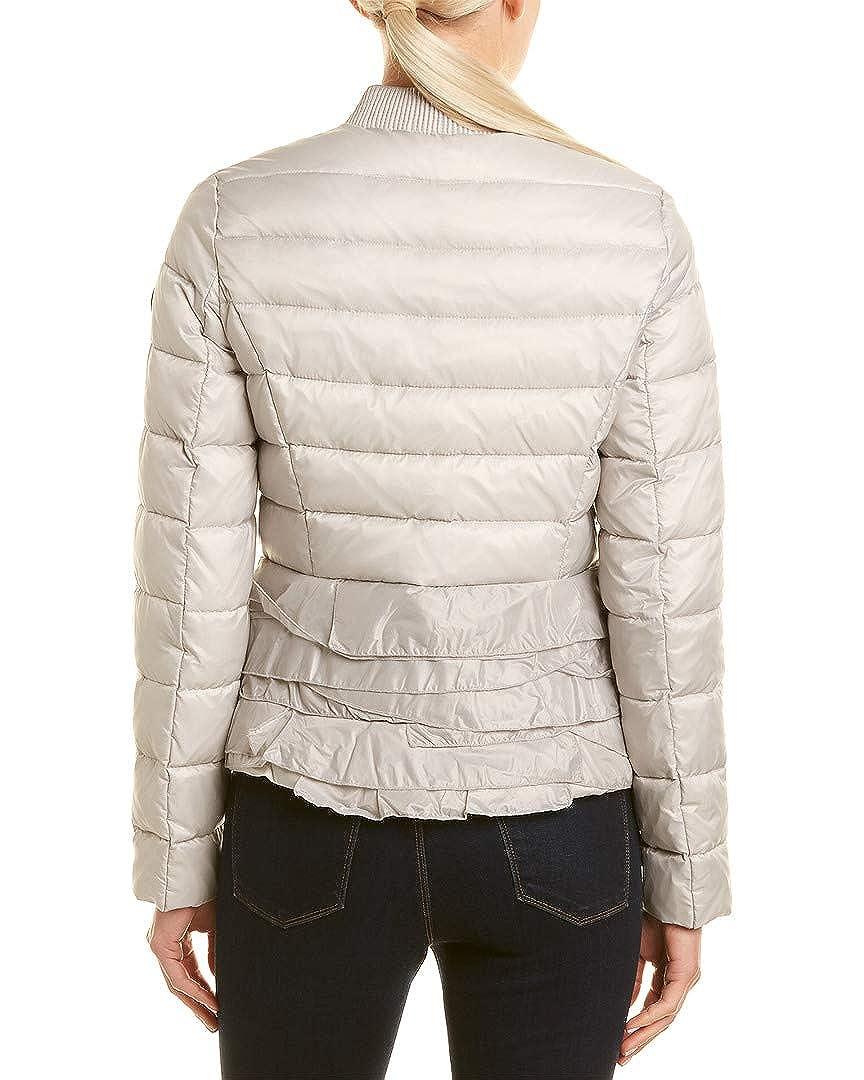 Tahari Womens Ruffled Bomber Jacket Grey XL
