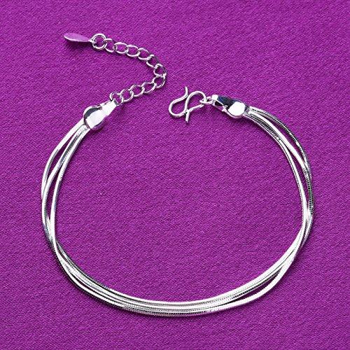 Cdet 3 Couche serpent Anklet osseuse Bracelet de Cheville Pied Femme Plage Accessoire Bijoux Plage Pieds