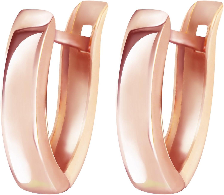 Genuine SOLID 9ct Pink ROSE Gold FILIGREE Huggies Hoop Earrings E019