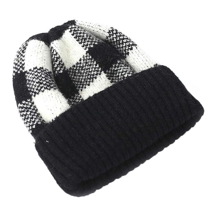 iKulilky Gorro de punto para niñas y niños,gorro sombreros de lana ...