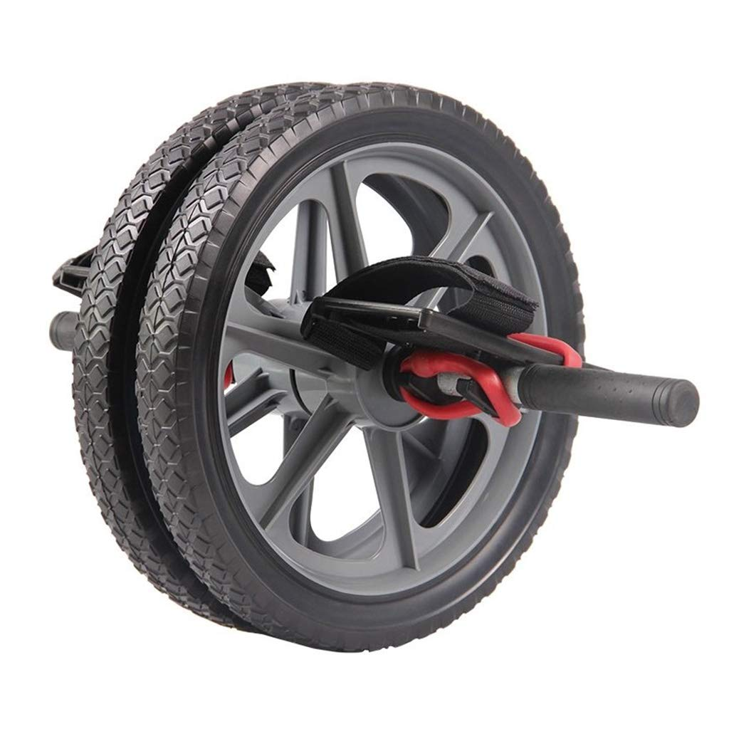 Abdominal- Übungsrolle stumm Abdominales Radplastiktaillenrollenrad-Doppelrad Abdominal- Eignungausrüstung Krafttraining