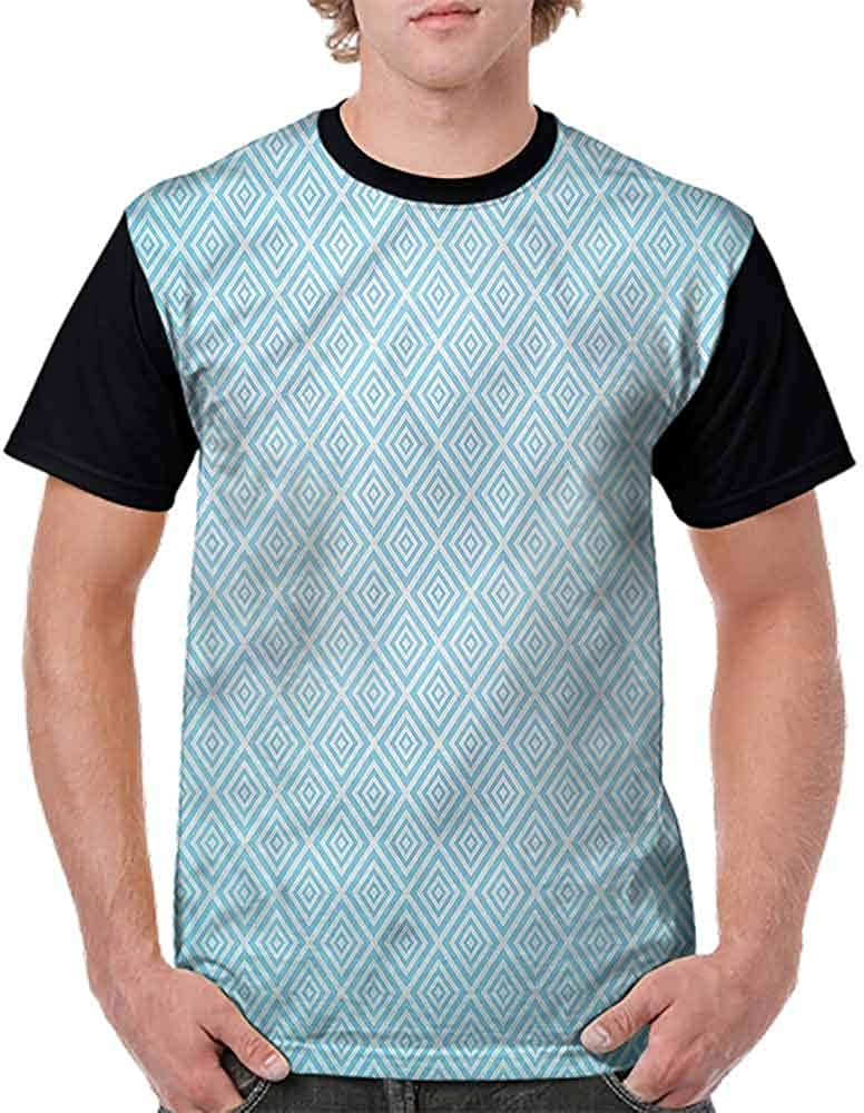 Vintage T-Shirt,Diagonal Nested Squares Fashion Personality Customization