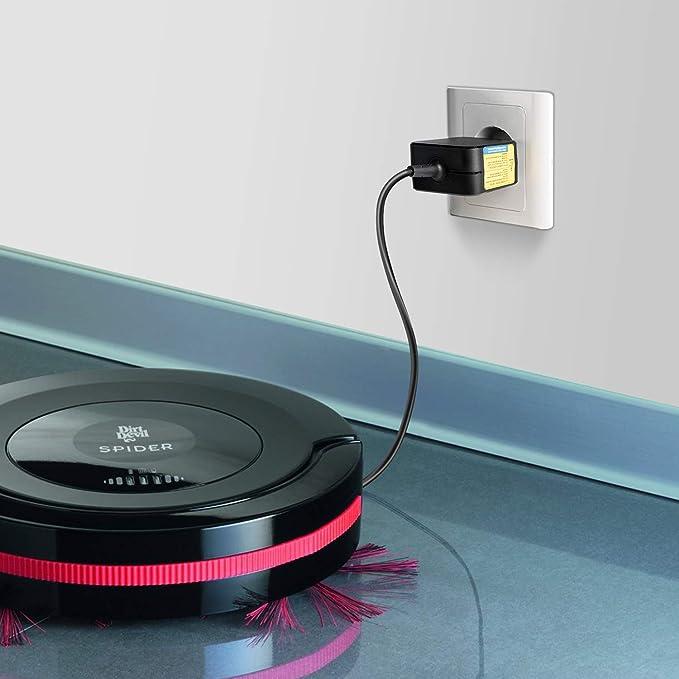 TAIFU - Cargador Adaptador de alimentación para Aspirador Dirt Devil M608 M607 M606 Spider Robot 0606003 0608003 M 606 607 608 Eufy Robot Aspirador ...
