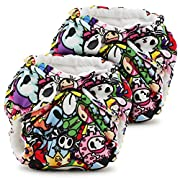 Kanga Care Lil Joey 2 Piece All in One Cloth Diaper, Tokijoy/Multi, Newborn