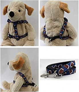 "product image for Diva-Dog 'Football' Custom 5/8"" Wide Dog Step-in Harness with Plain or Engraved Buckle, Matching Leash Available - Teacup, XS/S"