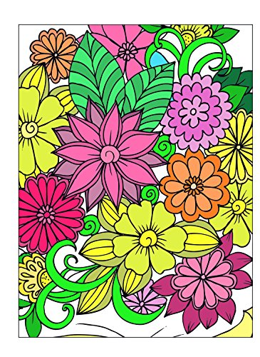 ART4U DIY Paint & Create Color Canvas Kit, Paint by No Number, Draw Your own Design, for Kids, Students, Adults Beginner- Flowers 9x12 inch with Brushes and Acrylic Pigment