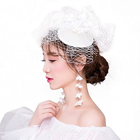 Huaaag Bridal Tiara Prom Hair Accessories Vintage Mesh Gown Photo