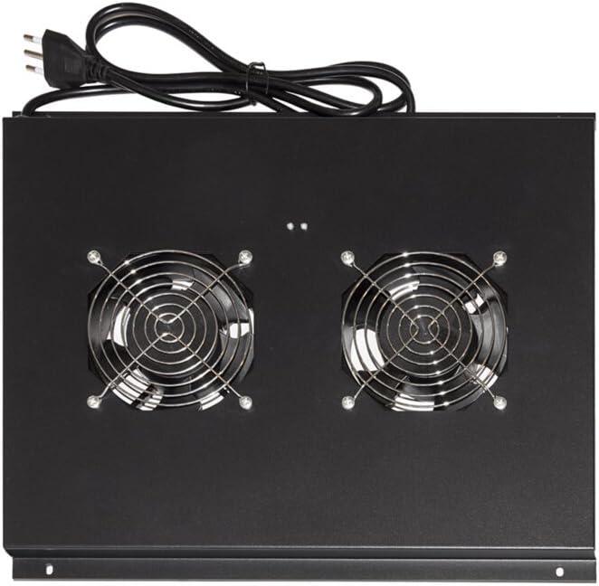 es 60 cm Link Accessori LKVENT60N Accesorio de Bastidor Panel del Ventilador s Panel del Ventilador, Negro, 2 Ventilador Accesorio de Rack 1 Pieza