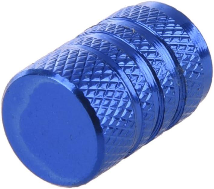 Fltaheroo 4 Stuecke blau Legierung Auto Reifen Ventilkappen Autoventil Verschlusskappen