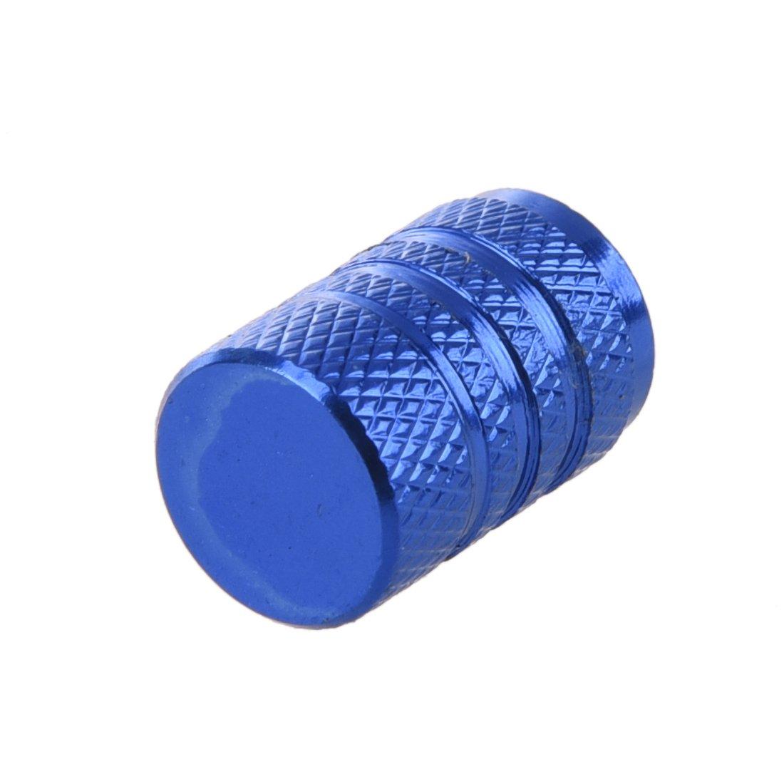 R 4 Stuecke blau Legierung Auto Reifen Ventilkappen Autoventil Verschlusskappen SODIAL Autoreifen Ventilkappen