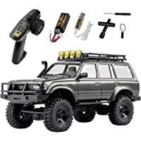 RocHobby 1/18 Scale Toyota Land Cruiser 80 RC Crawler, 2.4Ghz 4WD Off-Road Waterproof RC Car Vehicle Models RTR, All…