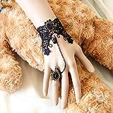 Five SeasonNoir Bracelet Avec Bague en dentelle rétro style gothique pour femme bijoux # 9