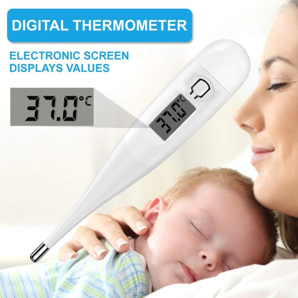 Elektronisches Orales rektales Unterarmtemperatur-Thermometer f/ür Erwachsene und Kinder schnelles und genaues wasserdichtes LCD-Thermometer Digitales Fieberthermometer