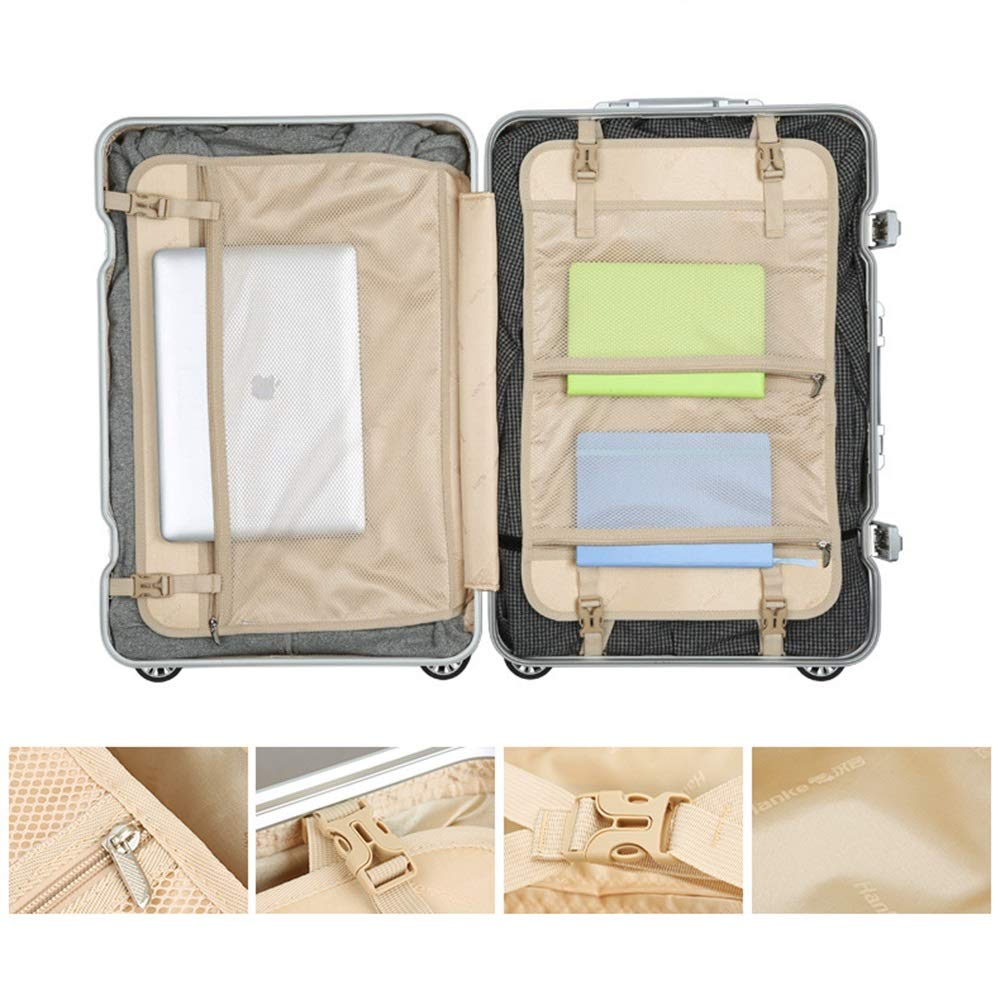 Suitable For Travel And Short Journey Business Travel Mute Universal Wheel MING REN Luggage Sets Pull Rod Box Scraping Aluminum Alloy Frame 2 Co Metal Wrap Angle Embedded Anti-theft Cipher Lock