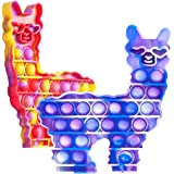 Hoofun POP-Fidget-It-Toys-Llama Silicone Bubble Sensory Alpaca Stress Anxiety Restless Reliever Decompression Squeeze…